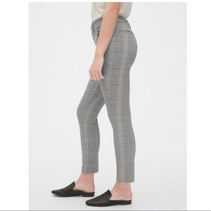 GAP skinny plaid pants